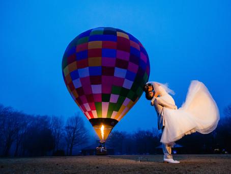 気球フォトウェディング