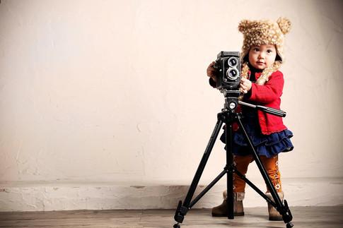 自宅で子供写真