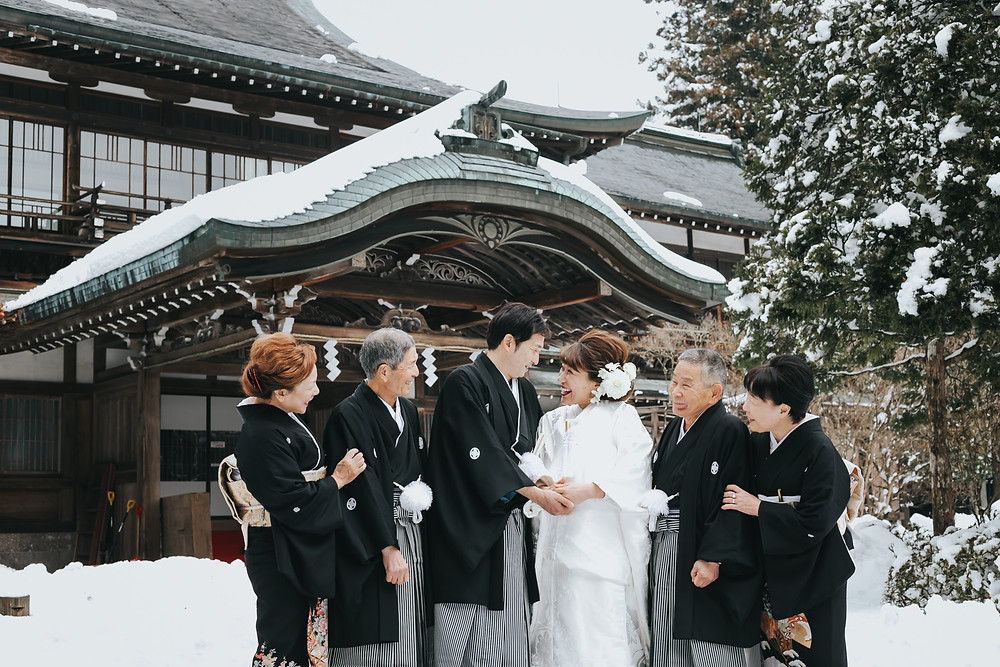 日光世界遺産ウェディング  栃木結婚式カメラマン 雪の日光東照宮 家族写真
