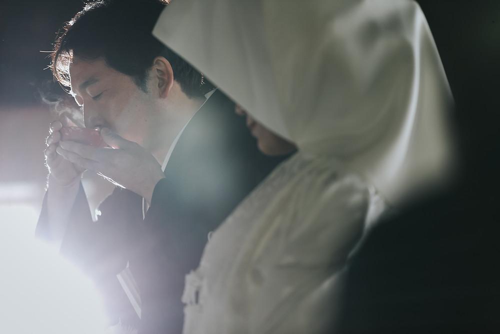 日光世界遺産ウェディング  栃木結婚式カメラマ 日光東照宮 三三九度
