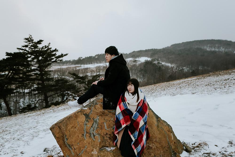 栃木県那須エンゲージメントフォト 栃木フォトウェディング 雪の中フォトウェディング