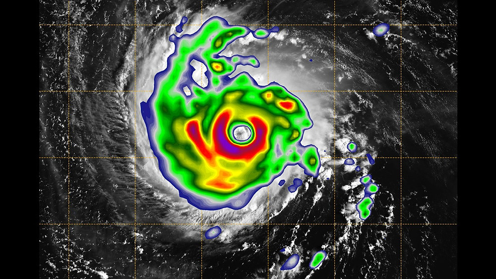 Doppler image of a hurricane off the coast of Broward County, Florida