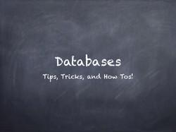 Database Tips