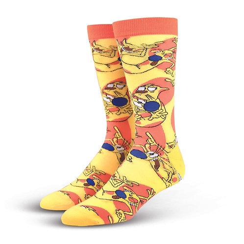 Cool Socks Cat Dog Yellow