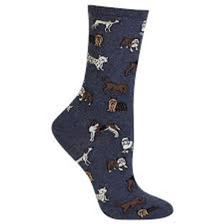 Hotsox Dogs on Blue