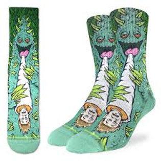 Good Luck Socks Weed Smoking A Human