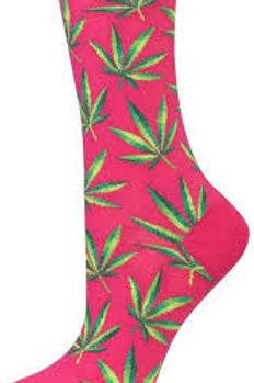Hotsox Marijuana Weed on Pink