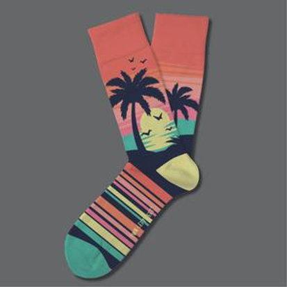 Two Left Feet Caribbean Sunset Palm Tree