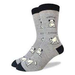 Good Luck Sock Pug Yoga Dog