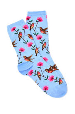 Hotsox Hummingbird with Flowers