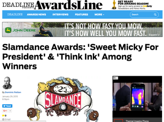 Sweet Micky for President Wins Jury & Audience Awards at Slamdance 2015