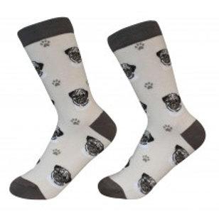 Sock Daddy Fawn Tan Pug