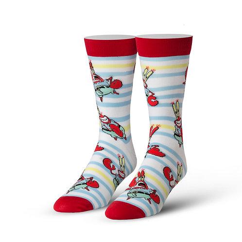 Cool Socks Spongbob Squarepants Mr. Krabs stripes