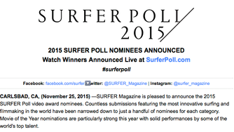 Fish: Surfboard Documentary nominated for 2015 SurferPoll Award