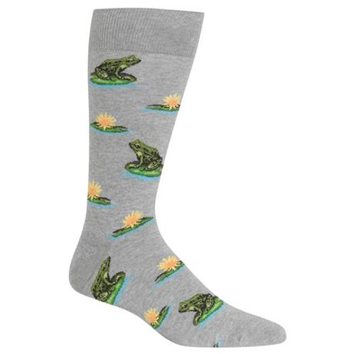 Hotsox Frogs and Lillypads on Gray
