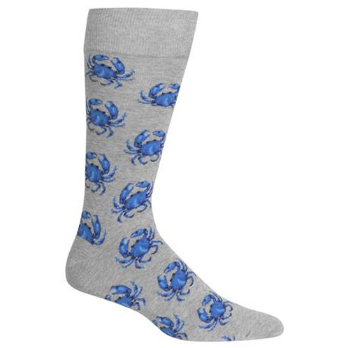 Hotsox Blue Crabs on Gray