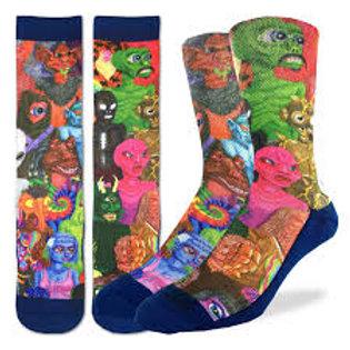 Good Luck Socks Aliens