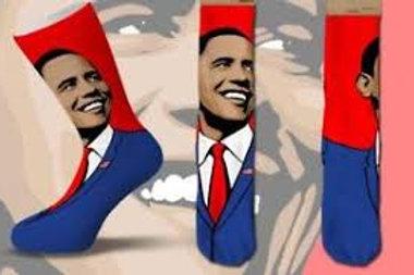 Cool Socks Obama Smiling