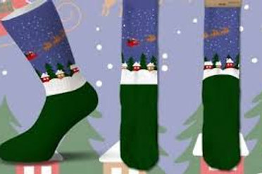Cool Socks Santa's Sleigh Christmas