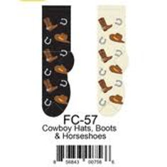 Foozys Cowboy Hats Boots and Horseshoes