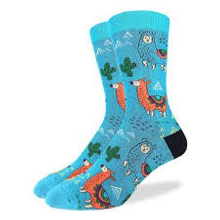 Good Luck Sock Fun Llamas