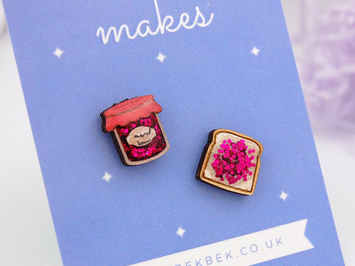Jam & Toast Earrings - Strawberry