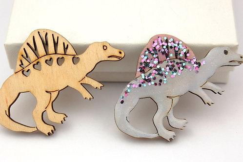 Dinosaur Wooden Shapes - 2 x Spinosaurus