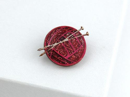 Ball of Wool Pin Badge