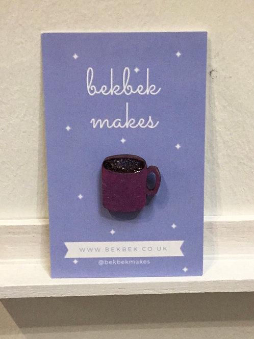 Mug of Coffee Pin Badge