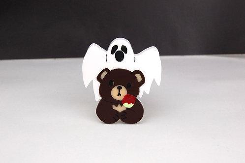 Haunted Bear Acrylic Brooch