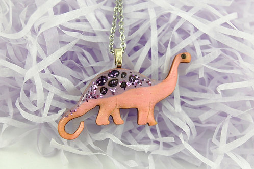 Diplodocus Necklace Small - Pink & Purple