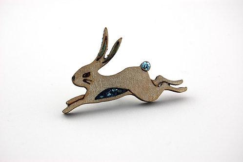 Snow Hare Pin