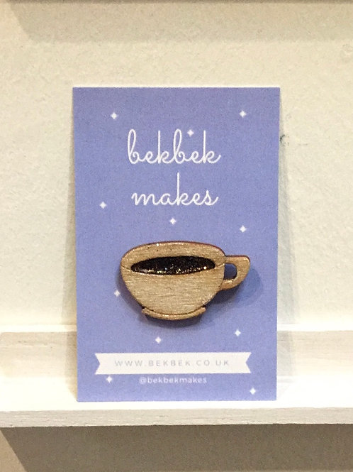 Cup of Coffee Pin Badge
