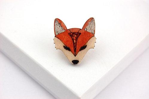 Fox Face Pin Badge