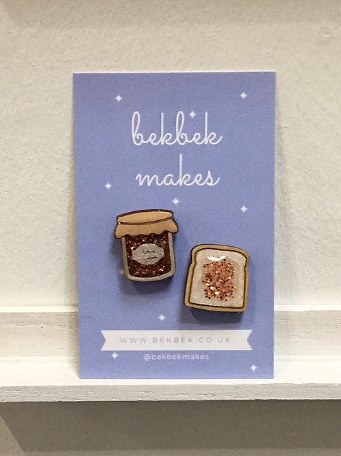 Marmalade & Toast Pin Set
