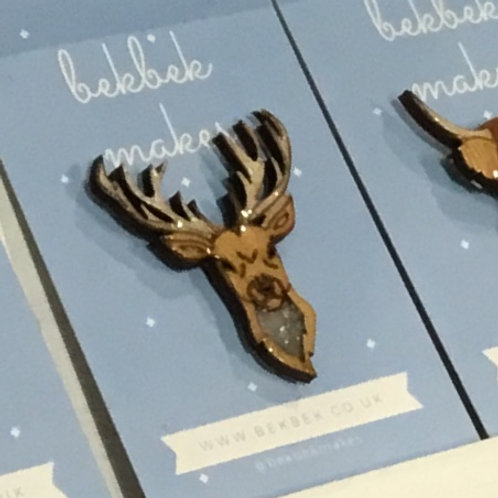 Stag Pin Badge