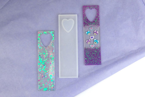 Heart Bookmark Small Reusable Silicone Mould - Mould Only