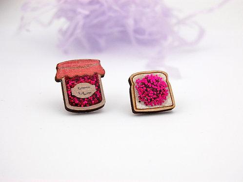 Jam & Toast Pin Set - Strawberry