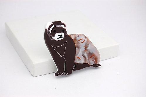 Ferret Acrylic Brooch