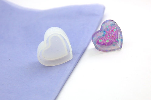 Mini Heart Shape Trinket Dish Reusable Silicone Mould - Mould Only