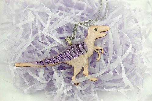 Velociraptor Necklace Large - Purple & Purple