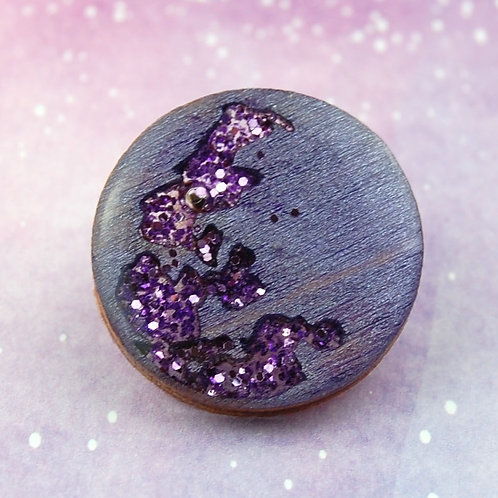 Purple Moon Pin
