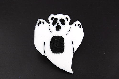 Discontinued - Ghost Bear Acrylic Pin Badge!