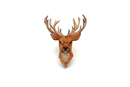 Stag Reindeer Pin Badge