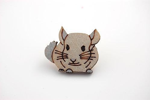 Chinchilla Pin Badge