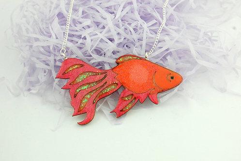 Goldfish Necklace - Orange & Red