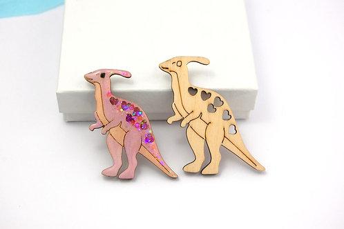 Dinosaur Wooden Shapes - 2 x Parasaurolophus