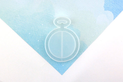 Pocket Watch/ Compass Hollow Silicone Mould - Mould Only