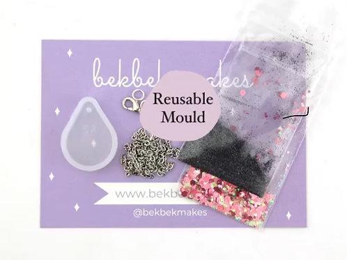 Tear Drop Necklace Kit - Reusable Silicone Mould