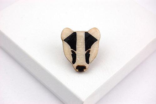 Badger Face Pin Badge